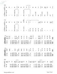 Thought Contagion-Muse Numbered Musical Notation Preview 4