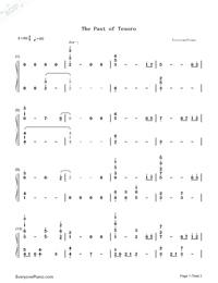 The Past of Tesoro-航海王之黃金城OST雙手簡譜預覽1