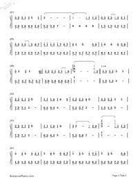 紙短情長-煙把兒樂隊雙手簡譜預覽2