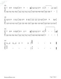 紙短情長-煙把兒樂隊雙手簡譜預覽3