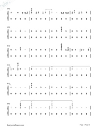 Corazón-Maluma-Numbered-Musical-Notation-Preview-3