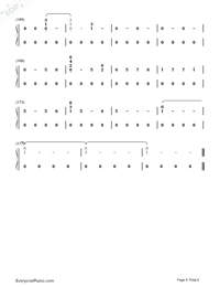 Corazón-Maluma-Numbered-Musical-Notation-Preview-8