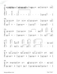紙短情長-完整版雙手簡譜預覽3