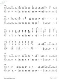 紙短情長-完整版雙手簡譜預覽4
