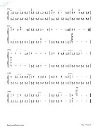 紙短情長-完整版雙手簡譜預覽5