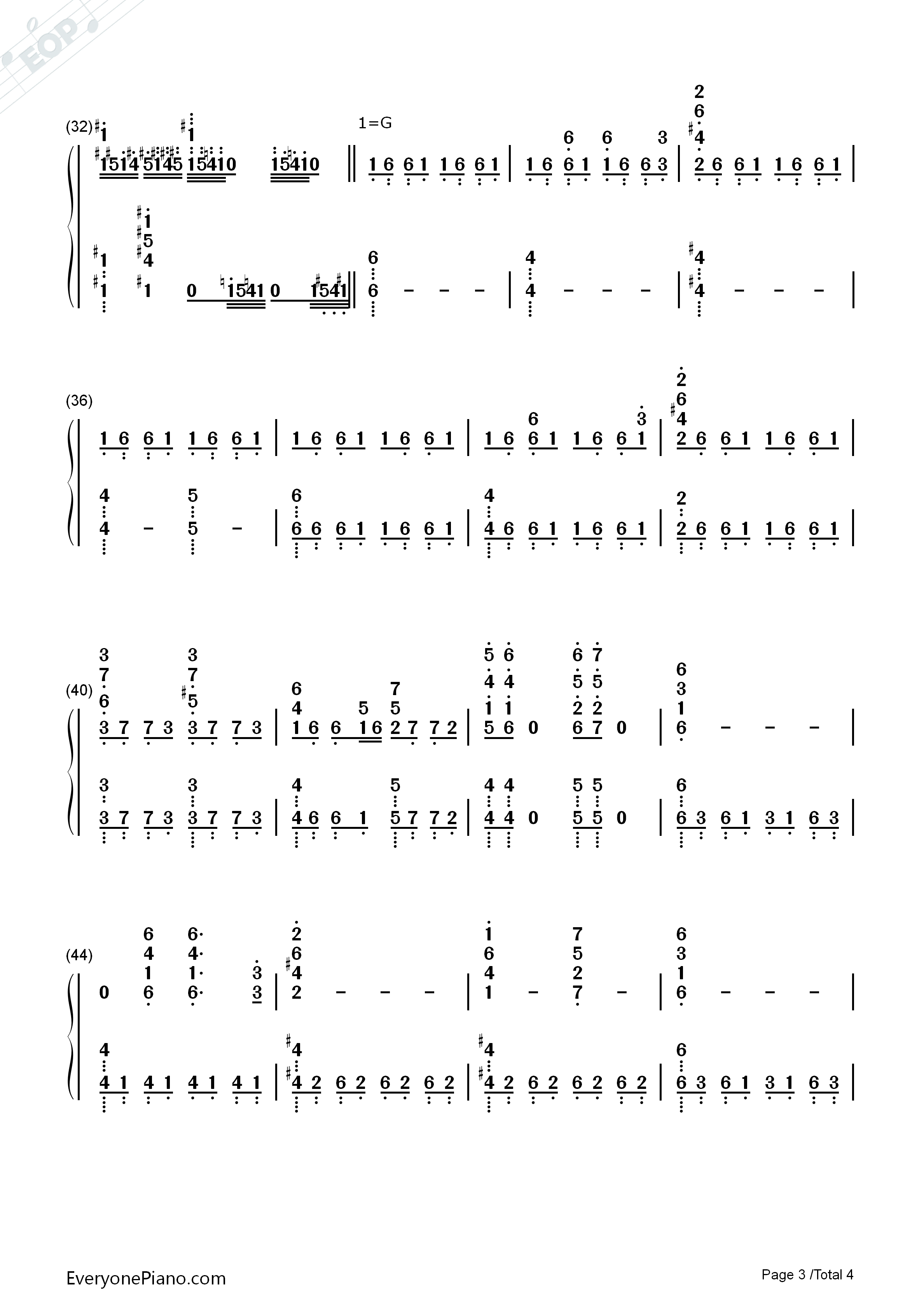 The Avengers-Avengers Infinity War OST Numbered Musical Notation Preview 3