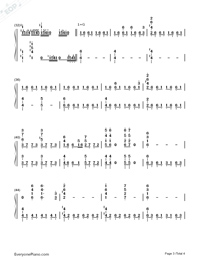 The Avengers-Avengers Infinity War OST-Numbered-Musical-Notation-Preview-3