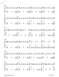 One Strange Rock-Zedd Numbered Musical Notation Preview 5