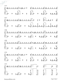 One Strange Rock-Zedd Numbered Musical Notation Preview 6