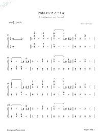 5 Centimeters Per Second-Numbered-Musical-Notation-Preview-1