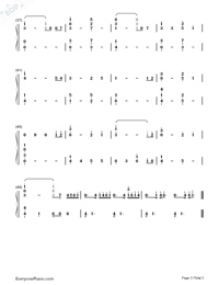 5 Centimeters Per Second-Numbered-Musical-Notation-Preview-3