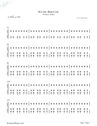 Action Reaction-Wonder Woman's Wrath-Numbered-Musical-Notation-Preview-1