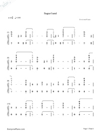 Babe-Sugarland ft Taylor Swift-Numbered-Musical-Notation-Preview-1