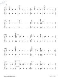 Babe-Sugarland ft Taylor Swift-Numbered-Musical-Notation-Preview-2