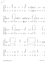 Babe-Sugarland ft Taylor Swift Numbered Musical Notation Preview 3