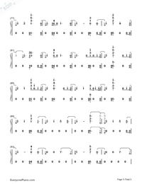 Babe-Sugarland ft Taylor Swift Numbered Musical Notation Preview 5