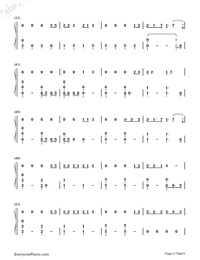 Bad Mood-Miley Cyrus Numbered Musical Notation Preview 3