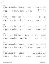 A Friend Who'd Loved for A Long Time-Us and Them OST-Numbered-Musical-Notation-Preview-2