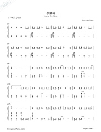 Learn To Meow-Numbered-Musical-Notation-Preview-1