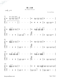 The Third Person-Women in Beijing OST-Numbered-Musical-Notation-Preview-1