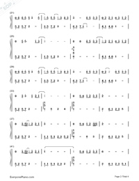 The Third Person-Women in Beijing OST-Numbered-Musical-Notation-Preview-2