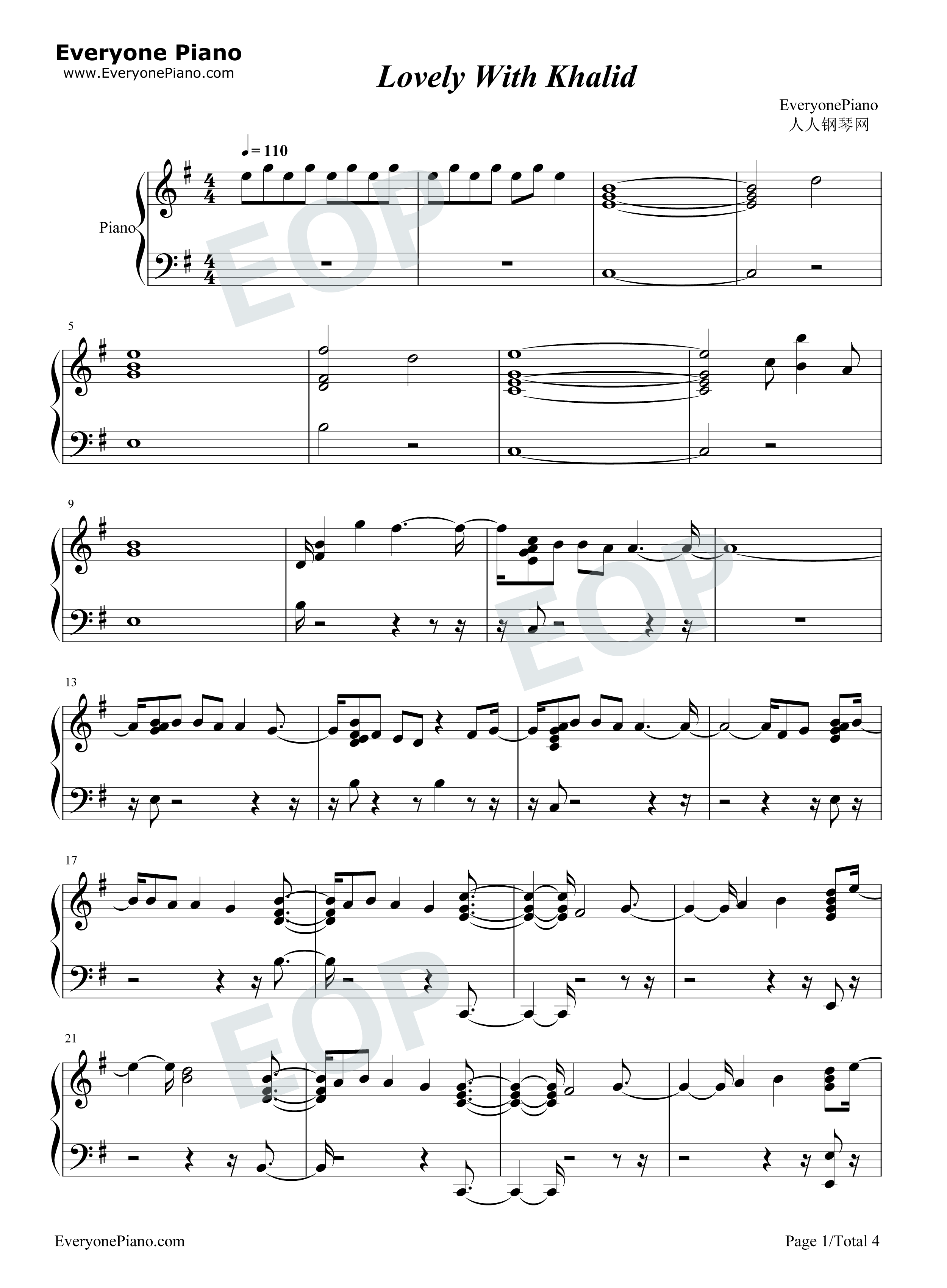 Billie Eilish - when the party's over - Flute Sheet Music ...