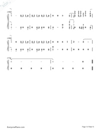 Don't Go Breaking My Heart-The Backstreet Boys Numbered Musical Notation Preview 10