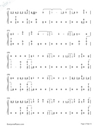 Don't Go Breaking My Heart-The Backstreet Boys Numbered Musical Notation Preview 2