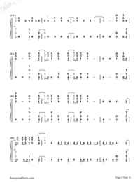 Don't Go Breaking My Heart-The Backstreet Boys Numbered Musical Notation Preview 3