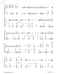 Don't Go Breaking My Heart-The Backstreet Boys Numbered Musical Notation Preview 4