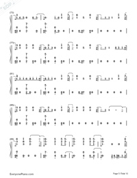 Don't Go Breaking My Heart-The Backstreet Boys Numbered Musical Notation Preview 5