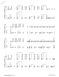 Don't Go Breaking My Heart-The Backstreet Boys Numbered Musical Notation Preview 6