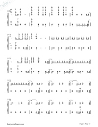 Don't Go Breaking My Heart-The Backstreet Boys-Numbered-Musical-Notation-Preview-7