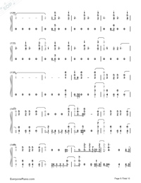 Don't Go Breaking My Heart-The Backstreet Boys-Numbered-Musical-Notation-Preview-8