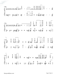 Don't Go Breaking My Heart-The Backstreet Boys Numbered Musical Notation Preview 9