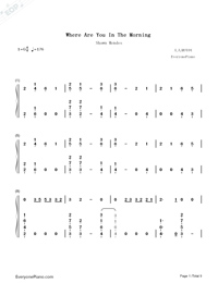 Where Were You in the Morning-Shawn Mendes-Numbered-Musical-Notation-Preview-1