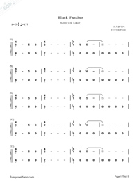 Black Panther-Black Panther OST-Numbered-Musical-Notation-Preview-1