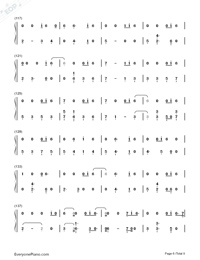 All The Stars-Black Panther OST Numbered Musical Notation Preview 6