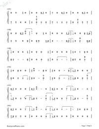 All The Stars-Black Panther OST Numbered Musical Notation Preview 7