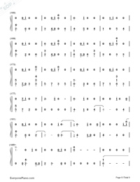 All The Stars-Black Panther OST Numbered Musical Notation Preview 8