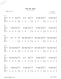 Take Me Hand-Cecile Corbel-Numbered-Musical-Notation-Preview-1