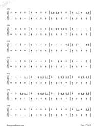 Take Me Hand-Cecile Corbel-Numbered-Musical-Notation-Preview-2
