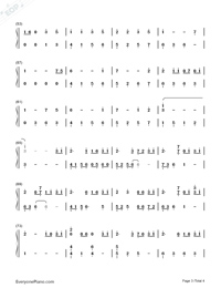 Take Me Hand-Cecile Corbel-Numbered-Musical-Notation-Preview-3