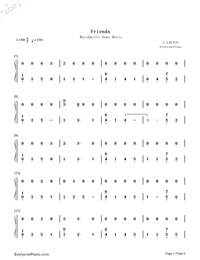 Friends-Marshmello and Anne-Marie-Numbered-Musical-Notation-Preview-1
