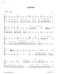 Hens and Cocks-Numbered-Musical-Notation-Preview-1