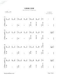 Hesitation to Fantasia-ummer's Desire OST-Numbered-Musical-Notation-Preview-1