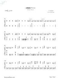 Solar Disco-Hatsune Miku-Numbered-Musical-Notation-Preview-1