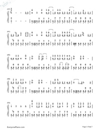 Solar Disco-Hatsune Miku-Numbered-Musical-Notation-Preview-3