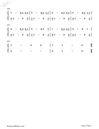 A Difference Voice-Here We Are Again Numbered Musical Notation Preview 3