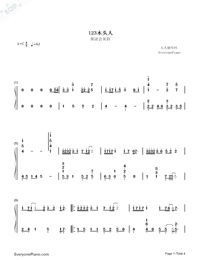 123 Don't Move Simple Version Numbered Musical Notation Preview 1